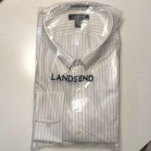 NWT Lands End Traditional Fit men's button up